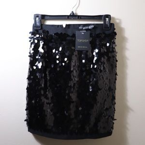 ✨NWT Topshop✨ Sequin Skirt